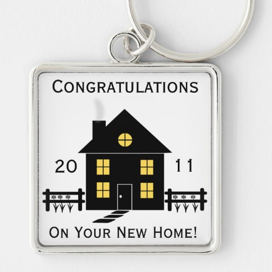 Congratulations New Home House Key Chain