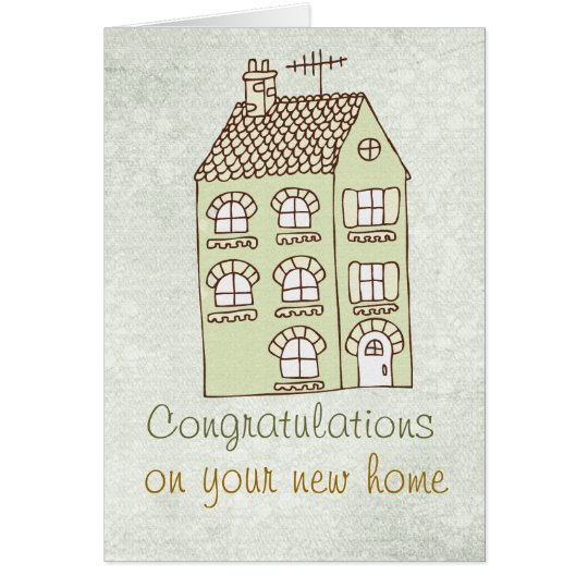 congratulations New Home Note Card