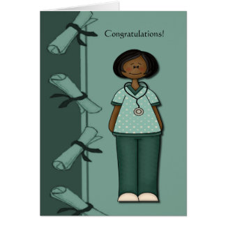Congratulations Nurse Graduate Green Custom Greeting Card