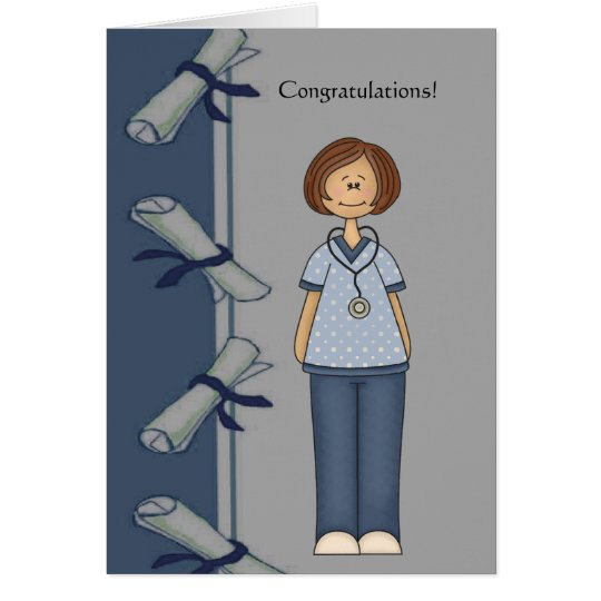 Congratulations Nurse Graduate Personalised Card