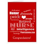 Congratulations Nurse Retirement-Red