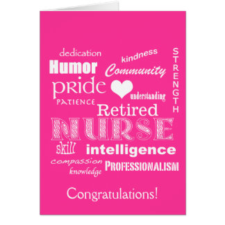 Congratulations Nurse Retirement!-Vibrant Pink Card