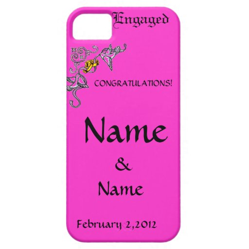Congratulations of Engagement iPhone 5 Case