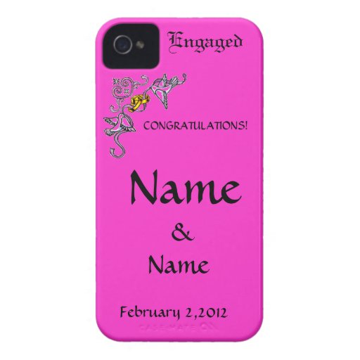 Congratulations of Engagement iPhone 4 Case