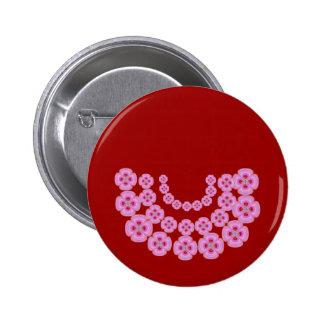 Congratulations:  Offering Garlands 6 Cm Round Badge