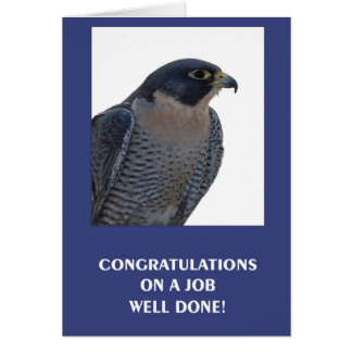 Congratulations On A Job Well Done Card