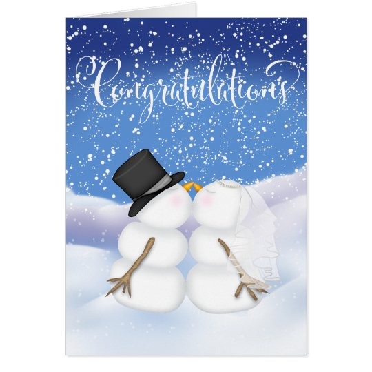 Congratulations on a Winter Wedding Card