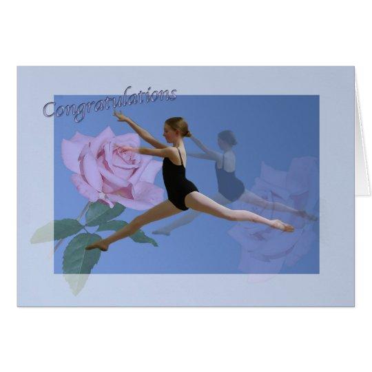 Congratulations on Ballet Dance Recital Card