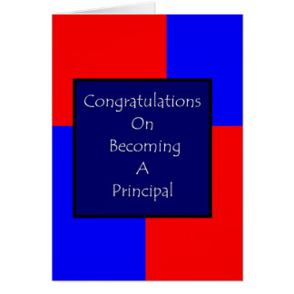 Congratulations On Becoming A Principal Card