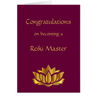 Congratulations on becoming a Reiki Master Card