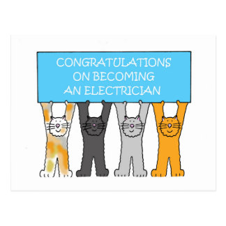 Congratulations on becoming an electrician. postcard