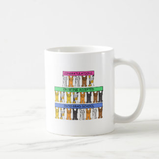 Congratulations on being accepted into grad school coffee mug
