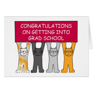 Congratulations on being accepted into grad school greeting card