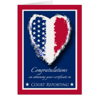 Congratulations on Court Reporter Certification Card