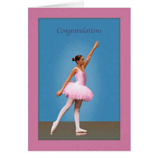 Congratulations on Dance Recital Greeting Cards