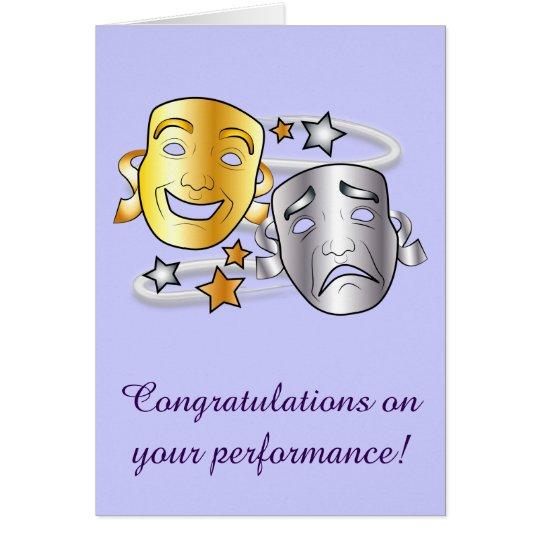 Congratulations on Drama Performance Card