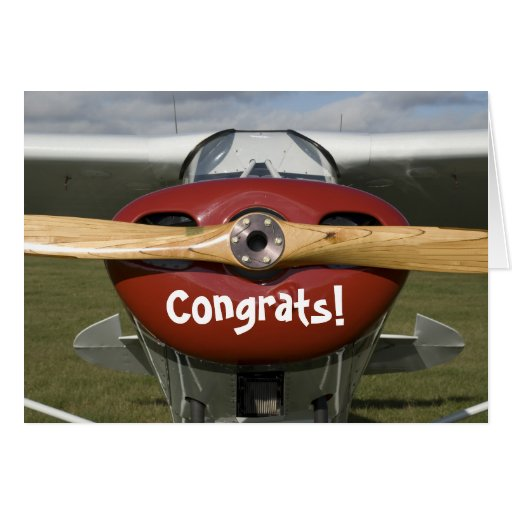 Congratulations on Earning your Pilot's License Cards
