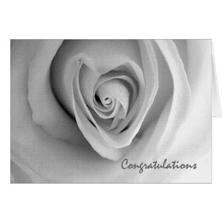 Congratulations on Engagement, Heart Shaped Rose Greeting Card