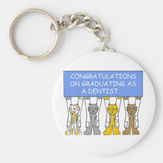 Congratulations on graduating as a dentist. basic round button key ring