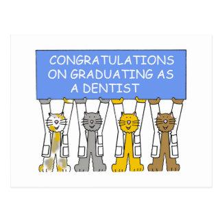 Congratulations on graduating as a dentist. postcard