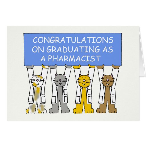 Congratulations on graduating as a pharmacist. greeting card
