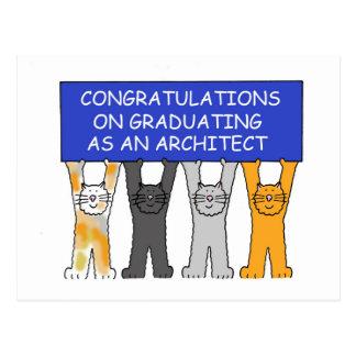 Congratulations on graduating as an architect. postcard
