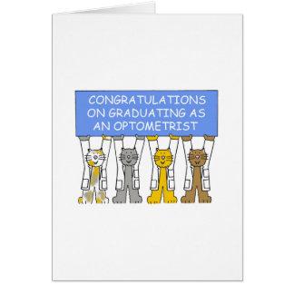Congratulations on graduating as an Optometrist. Card
