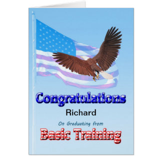 Congratulations on graduating from basic training cards