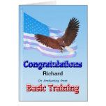 Congratulations on graduating from basic training greeting card