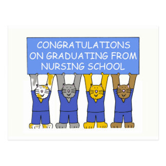 Congratulations on graduating from nursing school. postcard