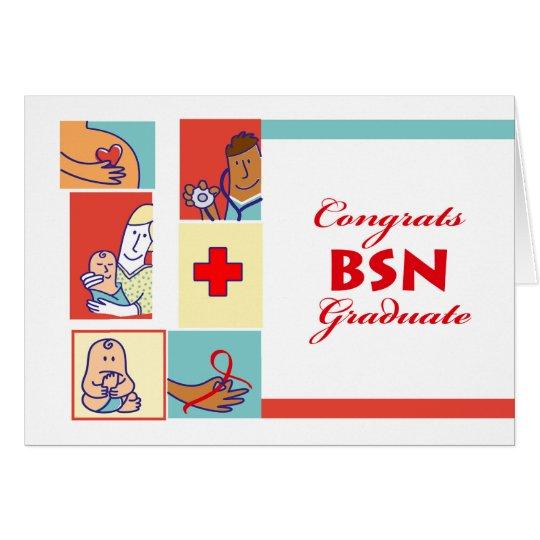 Congratulations on Graduation, BSN Degree, Nursing Card