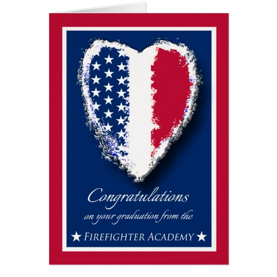 Congratulations on Graduation, Firefighter Academy Card
