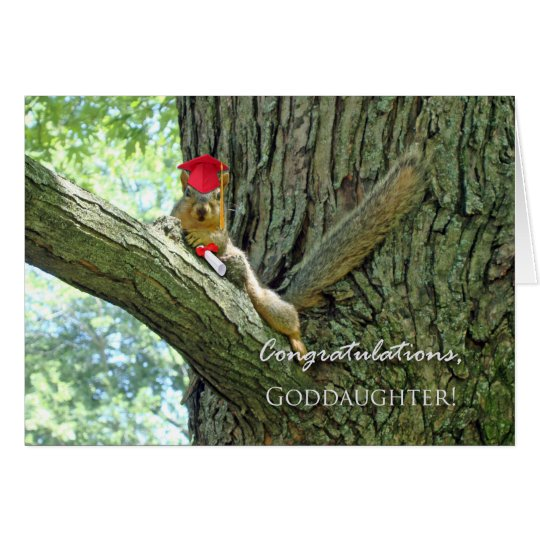 Congratulations on Graduation for Goddaughter Card