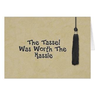 Congratulations on Graduation - Tassel Greeting Card