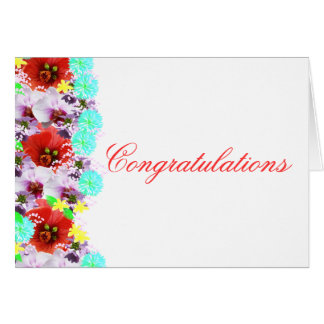 Congratulations on greeting card