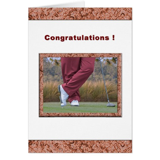 Congratulations on Hole-in-One for Golfer Card