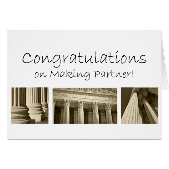 Congratulations on Making Becoming Partner in Law Card