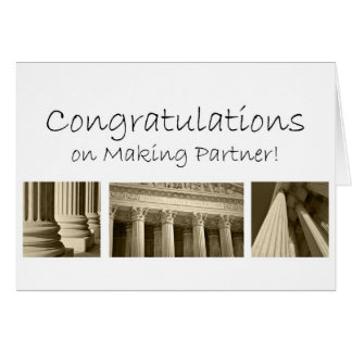 Congratulations on Making Becoming Partner in Law Greeting Card