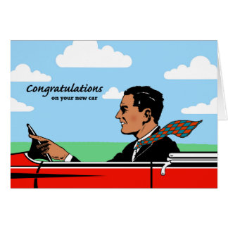 Congratulations on New Car for Grandpa, Sports Car Greeting Card