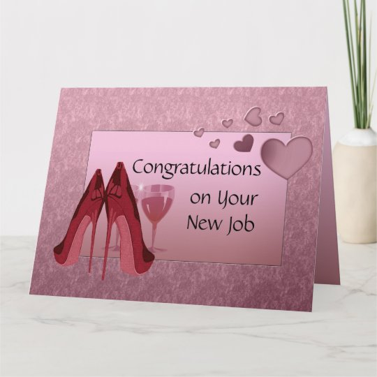 congratulations on new job greeting card  zazzlecouk