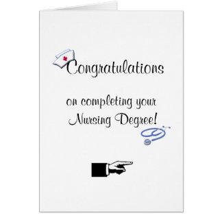 Congratulations on Nursing Degree-Humor Greeting Cards