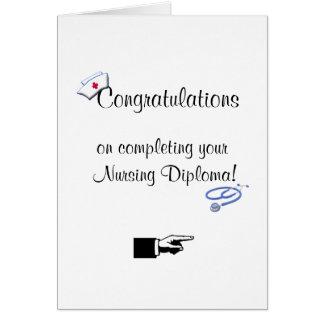 Congratulations on Nursing Diploma-Humor Greeting Card