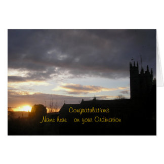 Congratulations on Ordination customize add name Card