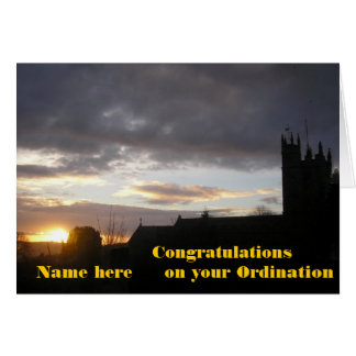 Congratulations on Ordination customize add name Greeting Card