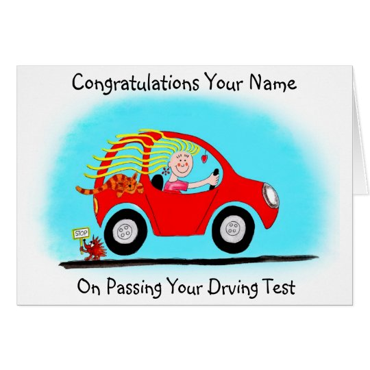Congratulations on Passing Driving Test Card