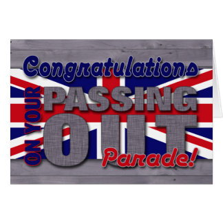 Congratulations on Passing Out Parade, Union Jack Greeting Card