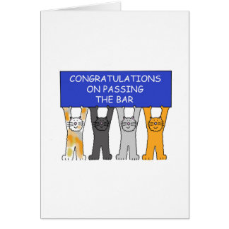 Congratulations on passing the bar exam. cards