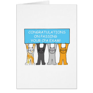 Congratulations on passing the CPA exam. Card