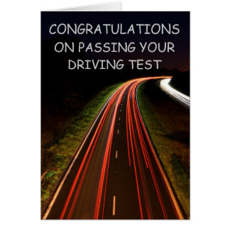 CONGRATULATIONS ON PASSING YOUR DRIV... CARD