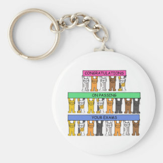 Congratulations on Passing your exams. Basic Round Button Key Ring
